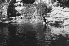 girl in pool (gorbot.) Tags: summer blackandwhite pool swimming rangefinder sicily roberta notoantica mmount leicam8 carlzeiss35mmbiogonf2zm