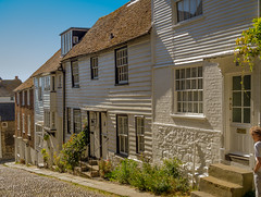 Picturesque Mermaid Street in Rye, East Sussex (Anguskirk) Tags: uk england town eu historic rye southcoast cobbles picturesque eastsussex 18thcentury mermaidstreet