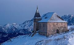 Dobratsch IV (NoVice87) Tags: mountain snow church austria twilight dobratsch