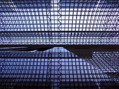 (  / Yorozuna) Tags: roof reflection station japan vertical grid kyoto ceiling  perpendicular lattice  kyotostation             kyotoward