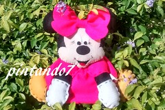 Minnie pink (Mnica Pintando7) Tags: pink mickey minnie feltro festa presente lembrancinha pintando7 centrodemesa