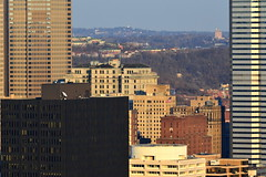 Downtown Pittsburgh Skyline, March 2015 (evz922) Tags: city urban usa tower architecture skyscraper buildings corporate one office pittsburgh view pennsylvania center pa oxford highrise mellon 412 burgh