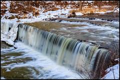 Anderson Falls (AkshayDeshpande) Tags: columbus snow waterfall indiana falls anderson