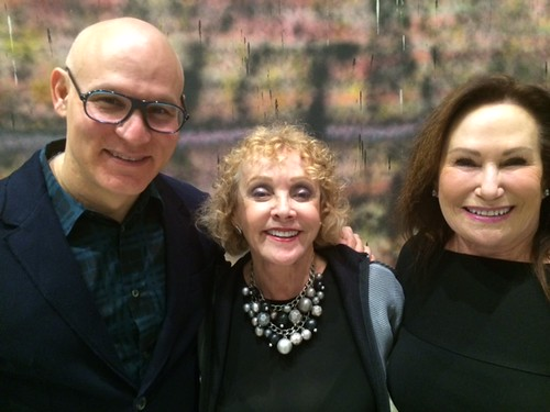 Design district developer and collector Craig Robins with artist Sheila Elias and JoAnn Katz at the de la Cruz Collection lecture