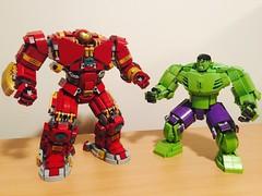 Hulkbuster and Hulk MOC's. #legohulkbuster #legohulk #legomarvel #hulkbuster #hulk (henrypinto) Tags: hulk hulkbuster legohulk legomarvel legohulkbuster