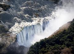 The Smoke that Thunders (loveexploring) Tags: africa mosioatunya southernafrica thesmokethatthunders victoriafalls zambeziriver zambia zimbabwe aerial cloud falls gorge landscape spray waterfall
