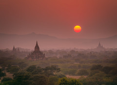 myanmar (sandilesmana28) Tags: wow myanmar temple cloud sky sun orange landscape tree sunrise pentaxflickraward cloudsstormssunsetssunrises
