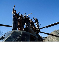 Soviet-Afghanistan War (1979-1988) (ngao5) Tags: people afghanistan male men history abandoned reading clothing asia gun adult aircraft military muslim group fulllength gesturing pride victory helicopter weapon vehicle centralasia groupofpeople wreckage guerrilla victorysign afghani politicalandsocialissues traditionalclothing historicevent asianhistoricalevent armsraised twofingersup mujahideen soviethistoricalevent easternasian foreignoccupation afghanhistoricalevent kunarprovince sovietafghanwar asianandindianethnicities centralasianculture centralasianethnicity