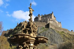 The Ross Fountain (richardr) Tags: edinburghcastle edinburgh castle fountain rossfountain princesstreetgardens building architecture scotland scottish britain british greatbritain uk unitedkingdom europe european history heritage historic old