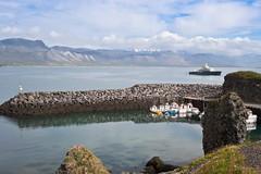 (geh2012) Tags: arnarstapi hfn harbor sjr sea snfellsnes btur boat fjall mountain gunnareirkur sland iceland geh gunnareirkurhauksson