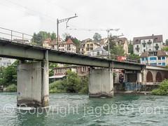 REU535 Eisenbahnbrcke (Railroad Bridge) over the Reuss River, Lucerne, Switzerland (jag9889) Tags: 2016 20160725 alpine bridge bridges brcke cff ch cantonlucerne centralswitzerland crossing europe ffs helvetia infrastructure innerschweiz kantonluzern lu lozrn lucerne luzern outdoor pont ponte puente railtransport railroadbridge railway reuss river sbb schweiz schweizerischebundesbahnen stadtluzern suisse suiza suizra svizzera swiss swissfederalrailways switzerland water waterway zentralschweiz jag9889