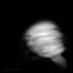 C O N S U M E D (MacroMarcie) Tags: blue white selfportrait black art square photography fuji kinetic wah x20 wh selfie consumed werehere hereios macromarcie
