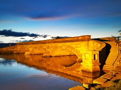Ross Bridge (andrewcaswell) Tags: ross bridge tasmania australia sandstone reflections hdr nightphotography night sunset winter orrange blue trees samsung galaxy s6 edge s6edge