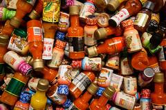 Mini-Hots (ranzino) Tags: condiment intercourse kitchenkettlevillage pa bottles food hotsauce