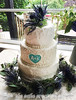 Rustic and Swirls Wedding Cake