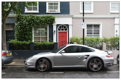 How The Other Half Live ... (junepurkiss) Tags: london car reddoor nottinghill motorcar excpensivecar