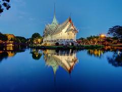 43 Golden Moments Fine Art Photography Night Lights Night View Thailand Bangkok Water Reflections at Ancient Siam () (rapisu) Tags: thailand nightlights bangkok nightview fineartphotography waterreflections 43goldenmoments