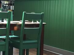 green (Hayashina) Tags: london table restaurant chairs