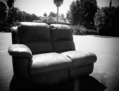 Outside the Mystery House (Bart D. Frescura) Tags: couch winchestermysteryhouse outdoor bartdfrescura dropoff driveby shadows lightandshadow lightanddark monochrome sanjose califorina westcoast northerncalifornia strange street