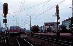 456 107  Bruchsal  20.07.80 (w. + h. brutzer) Tags: analog train germany deutschland nikon eisenbahn railway zug trains db 456 bruchsal eisenbahnen triebwagen triebzug et56 triebzge webru