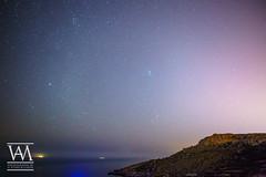 Mgiebah Bay at Night (McCarthy's PhotoWorks) Tags: malta mediterranean astronomy bay cliff horizon landscape night nighttime nightscape nightsky outdoor pleiades seascape star starry