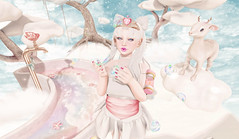 Simple Pleasures Are Life's Greatest Treasures (Gabriella Marshdevil ~ BUSY IRL) Tags: cute sl secondlife offbeat crystalheart lcky fawny catwa enfersombre