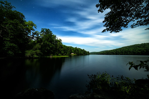 Midnight at Spectacle Pond