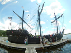 (theleakybrain) Tags: mokacam mokacam4k 20160716140946 columbus ships hudson wisconsin nina pinta tall wideangle actioncam indegogo