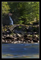 Lyon Tourist Shot (K-Burn) Tags: waterfall river bridge woodland glenlyon perthkinross