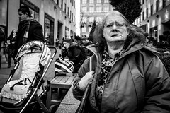 (Damien Sass) Tags: urban people streetphotography america rockefeller fifthavenue camera ricohgr 28mm monochrome manhattan contrast blackandwhite bw bigapple nyc newyorkcity