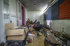 Cluttered Room (Voodoooz) Tags: urbex urban explore abandoned drain brisbane city queensland australia tourist water street river house me red blue white tree sky night art light summer old hot sexy babe travel tourer adventure camera building extreme danger photography flashback indoor architecture beam alley texture abstract surreal