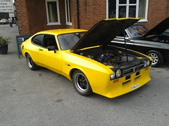 Ford Capri 2.0 Laser D748TTY (Andrew 2.8i) Tags: weybridge surrey club show classic classics car hatch hatchback coupe ford capri 20 2000 laser pinto modified custom youngtimer all types transport worldcars