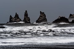 Uneasy (TXA Photography) Tags: iceland icelandphototours water atlanticocean atlantic rocks overcast travel waves winter january canon canon5d canon5dmkiii europe ocean