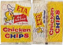 1970s Eta Chicken Chippies Packet - New Zealand (NZCollector) Tags: new zealand packaging kiwiana chippies eta bluebird snacks