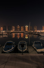 The Pearl (aliffc3) Tags: thepearl qatar boats architecture building lighting nightshot longexposure sonyrx100iv