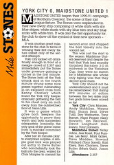 Maidstone United vs Northampton Town - 1990 - Page 28 (The Sky Strikers) Tags: maidstone united northampton town barclays league division four stones official match programme one pound