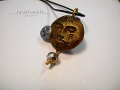 Sun & Moon (LynzCraftz) Tags: polymerclay resin swellegant steampunk handmade oneofakind jewelry necklace pendant
