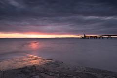 Letterbox Sunset (~g@ry~ (clevedon-clarks)) Tags: clevedon clevedonpier clouds dark slipway northsomerset victorian victorianpier sunset purple coast coastal beach reflections