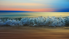 In motion (M.patrik) Tags: wave small motion blur sunset sea summer abstract minimalistic focus frozen shutter beach fav10 fav25 water