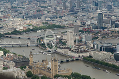 London from the air (Spannarama) Tags: light helicopter helicopterflight aerial aerialview londoneye westminster housesofparliament bigben thames river london uk