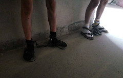 Prison cell shared by inmates (asiancuffs) Tags: handcuffs handcuffed shackles shackled prisoner inmate
