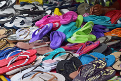 FLIPFLOPS Z (katarzynatrzcinska) Tags: collection street color flipflops tow photography object fashion shoes market sale retail variation heap multicolour