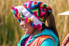 Uros woman (fabioresti) Tags: uros woman girl peruviana peruvian per 2016 canoneos80d 55250 isla islands isole isola lago lake titikaka puno