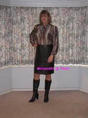 Secretary 3c (Melissa451) Tags: secretary leatherskirt boots heels pussybow silkblouse