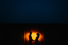 Silhouettes (Nick-K (Nikos Koutoulas)) Tags: wedding weddingingreece weddingphotographer greekwedding light silhouette silhouettes couple groom bride night strobe nikoskoutoulas yourockphotographers