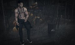 ::DARKNESS:: (Vic Taur) Tags: isuka doux invictus valekoer represent tattoo pants suspender hair shoes mom theseasonsstory