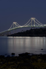 Newport Bridge Night 01 (dcrouse087) Tags: newport ri rhodeisland 401 nighttime night longexposure water reflection newportbridge pell bay