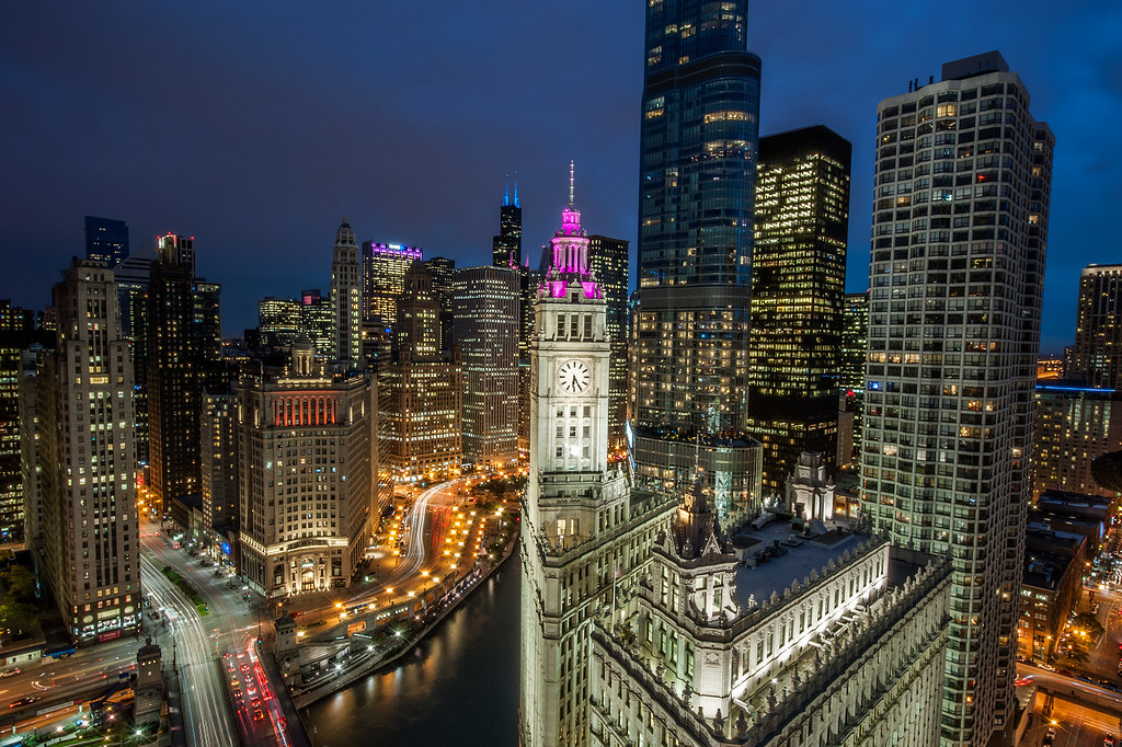 One of the best views I've seen of Chicago, the Rooftop Veranda at Tribune Tower.