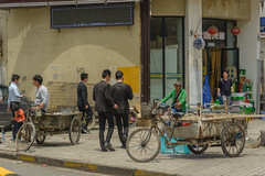 suits (stevefge) Tags: china shanghai sheeshan people candid men suit bicycles bikes cycles street reflectyourworld