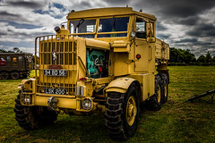 Big Beastie (aquanout) Tags: scammell lorry truck hgv military tyres wheels grass sky green yellow
